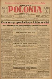 Polonia, 1927, R. 4, nr 335