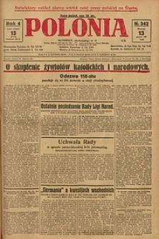 Polonia, 1927, R. 4, nr 342