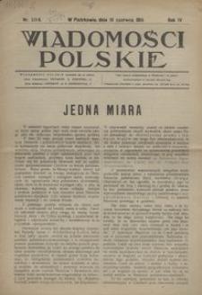 Wiadomości Polskie, 1918, R. 4, nr 184