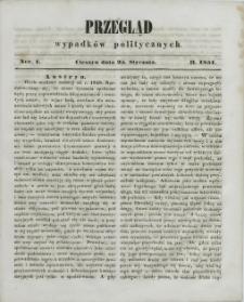 Przegląd Wypadków Politycznych, 1851, Nry 1-6