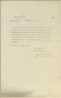 Pismo J. Londzina wzywające do oddania głosu wyborczego na rzecz J. Michejdy