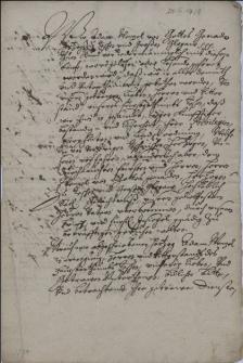 Odpis konfirmacji przez księcia cieszyńskiego Adama Wacława 30.12.1594 przywilejów i swobód posiadanych przez cieszyńską szlachtę