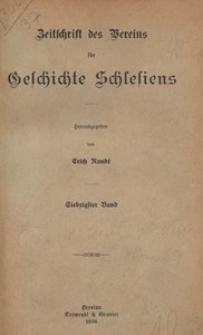 Zeitschrift des Vereins für Geschichte Schlesiens 1936, Bd. 70