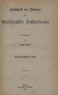 Zeitschrift des Vereins für Geschichte Schlesiens 1935, Bd. 69