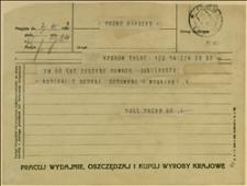 Telegram Kunickich Z życzeniami Kraków 03041932 R Silesian