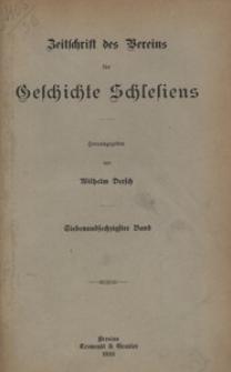 Zeitschrift des Vereins für Geschichte Schlesiens 1933, Bd. 67