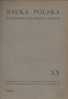 Nauka Polska, 1935, R. 20