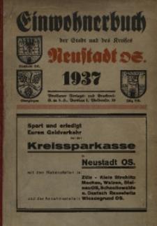 Adressbuch / Einwohnerbuch für den Kreis Neustadt OS. mit den Städten Neustadt OS., Oberglogau und Zülz OS. und allen Gemeinden