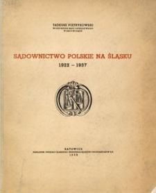 Sądownictwo polskie na Śląsku 1922-1937