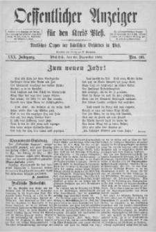 Oeffentlicher Anzeiger für den Kreis Pleß, 1882, Jg. 30, Nro. 103