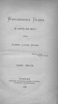 Wspomnienia ułana z 1863 roku. Cz. 2