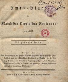 Amts-Blatt der Königlichen Oppelnschen Regierung pro 1833, 18. Bd.