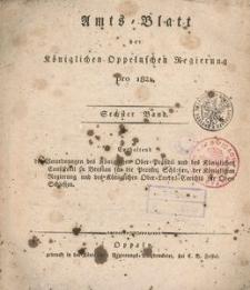 Amts-Blatt der Königlichen Oppelnschen Regierung pro 1821, 6. Bd.