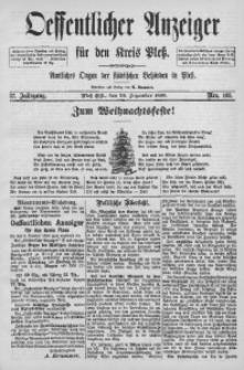 Oeffentlicher Anzeiger für den Kreis Pleß, 1889, Jg. 37, Nro. 103