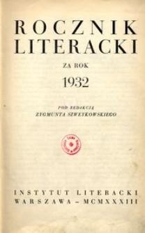 Rocznik Literacki za rok 1932