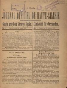 Journal Officiel de Haute-Silesie, 1920, nr 1