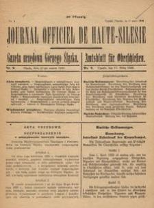Journal Officiel de Haute-Silesie, 1920, nr 2