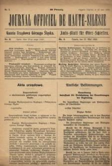 Journal Officiel de Haute-Silesie, 1920, nr 3
