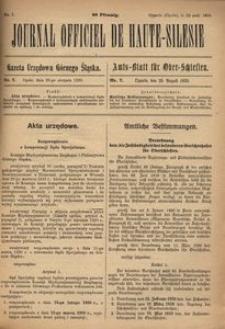 Journal Officiel de Haute-Silesie, 1920, nr 7