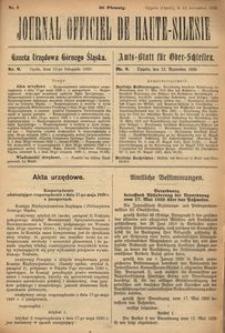 Journal Officiel de Haute-Silesie, 1920, nr 9