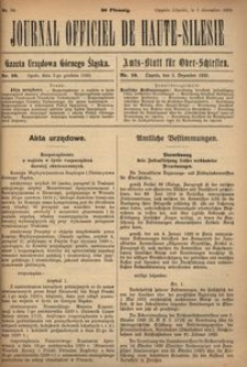 Journal Officiel de Haute-Silesie, 1920, nr 10