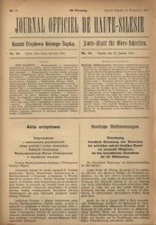Journal Officiel de Haute-Silesie, 1921, nr 13