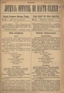 Journal officiel de Haute-Silesie, 1921, nr 20