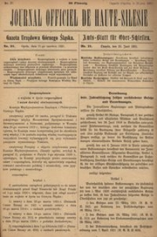Journal Officiel de Haute-Silesie, 1921, nr 21
