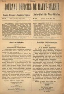 Journal Officiel de Haute-Silesie, 1922, nr 32