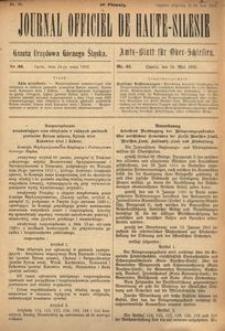 Journal Officiel de Haute-Silesie, 1922, nr 33