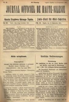Journal Officiel de Haute-Silesie, 1921, nr 25