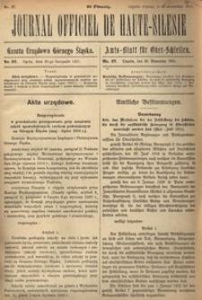 Journal Officiel de Haute-Silesie, 1921, nr 27