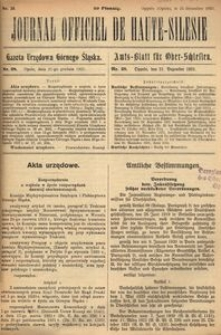 Journal Officiel de Haute-Silesie, 1921, nr 28