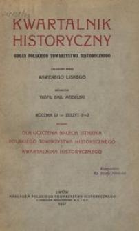 Kwartalnik Historyczny. R 51 (1937)