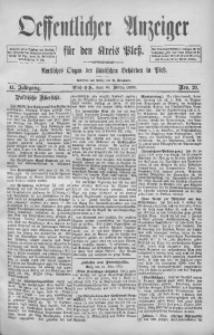 Oeffentlicher Anzeiger für den Kreis Pleß, 1893, Jg. 41, Nro. 20