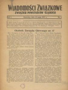 Wiadomości Związkowe Związku Powstańców Śląskich, R. 1, nr 2