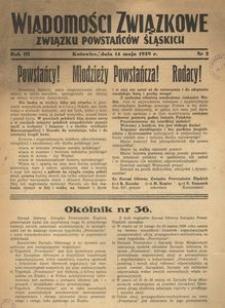 Wiadomości Związkowe Związku Powstańców Śląskich, R. 3, nr 2