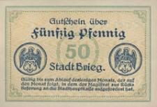 Brzeg. Pieniądz zastępczy 1918 r.
