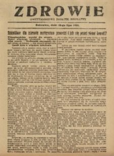 Zdrowie, 18 lipca 1926