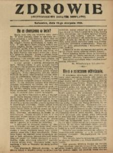 Zdrowie, 10 sierpnia 1926