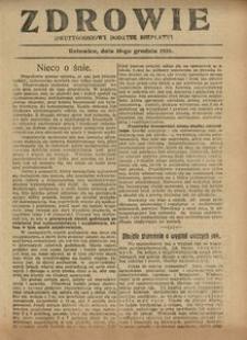 Zdrowie, 10 grudnia 1926