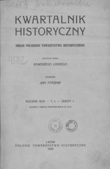Kwartalnik Historyczny. R 44 (1930)