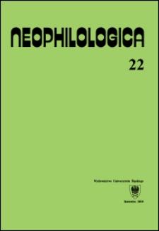 Neophilologica. Vol. 22: Études sémantico-syntaxiques des langues romanes
