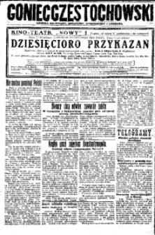 Goniec Częstochowski, 1925, R. 20, No 234