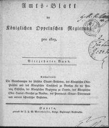 Amts-Blatt der Königlichen Oppelnschen Regierung pro 1829, 14. Bd.