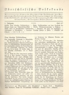 Oberschlesische Volkskunde, 1931, Jg. 3, H. 6/7