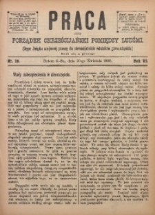 Praca, 1895, R. 6, Nr. 18