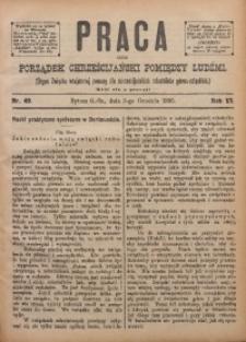 Praca, 1895, R. 6, Nr. 49
