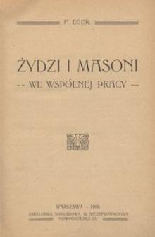 Żydzi i Masoni we wspólnej pracy
