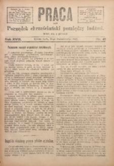 Praca, 1908, R. 18, Nr. 41